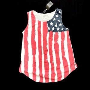 American Flag SouthStore NWT Sheer Tank Size XXL